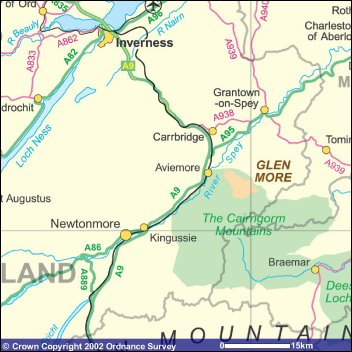 Cairngorms Aviemore Speyside Accommodation & Sightseeing   The