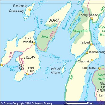 Isle of Islay accommodation transport and sightseeing  The
