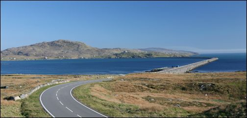 Causeway between South Uist and Eriskay, Scotland
